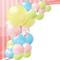 Colorful balloon background texture Royalty Free Stock Image