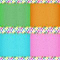 Colorful balloon card board texture for note or congratulate Stock Photos
