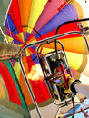 Colorful balloon a hot air burners in operation Stock Photography