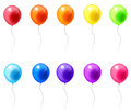 Colorful balloon icons in isolated background create by vector Royalty Free Stock Photography