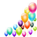 Colorful balloons as design elements Royalty Free Stock Photos