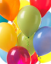 Colorful balloons background helium abstract holiday party Royalty Free Stock Photo