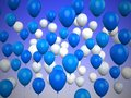 Colorful Balloons Blue Backgro...