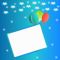 Colorful balloons border frame illustration birthday cards party invitations backgrounds Royalty Free Stock Image