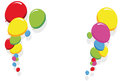 Colorful balloons border frame illustration for birthday and party cards Stock Photo