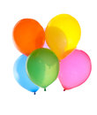 Colorful balloons bright isolated on white Stock Photos