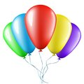 Colorful balloons bunch of isolated on white background Royalty Free Stock Photography