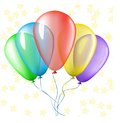 Colorful balloons bunch of with star background Stock Image
