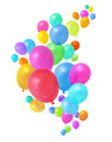 Colorful balloons flying Royalty Free Stock Photo