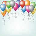Colorful balloons flying in sky Royalty Free Stock Photos