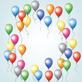 Colorful balloons flying in sky Royalty Free Stock Image