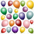Colorful balloons in front of an white background Royalty Free Stock Photo