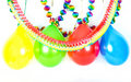 Colorful balloons and garlands. Party decoration Stock Photography
