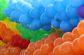 Colorful balloons grouped by colors many Stock Photos
