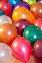 Colorful balloons at a party Royalty Free Stock Photo