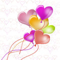 Colorful balloons shape heart Royalty Free Stock Photo