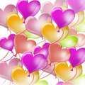Colorful balloons shape heart Royalty Free Stock Images