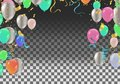 Colorful Balloons With Triangu...