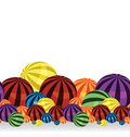 Colorful balls border Royalty Free Stock Photography