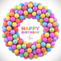 Colorful balls frame with place for your content