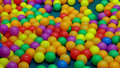 Colorful balls in playground Royalty Free Stock Photo