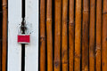 Colorful bamboo door close up Stock Photo