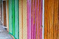 Colorful bamboo door close up Royalty Free Stock Photo