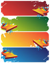 Colorful banners with arrows Stock Photos