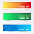 Colorful banners with brush strokes Royalty Free Stock Photo
