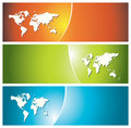 Colorful banners (headers) Royalty Free Stock Images