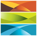 Colorful banners (headers) Royalty Free Stock Photography