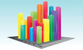 Colorful Bar Graph Stock Images