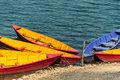 Colorful barques in pokara on phewa lake nepal Stock Photography