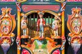 Colorful barrel organ or street organ Royalty Free Stock Photo