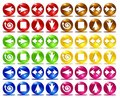 Colorful basic web icons Royalty Free Stock Images