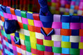 Colorful basket weaving Royalty Free Stock Image