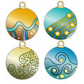 Colorful bauble collection Stock Photo