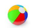 Colorful beach ball on a white background Royalty Free Stock Image