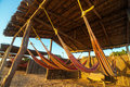Colorful Beach Hammocks Royalty Free Stock Photo