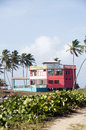 Colorful beach house hotel corn island nicaragua Stock Photography