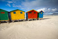 Colorful beach huts at Muizenberg Beach Royalty Free Stock Photo