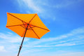 Colorful beach umbrella . Royalty Free Stock Photo