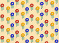 Colorful beach umbrella. Seamless pattern. Royalty Free Stock Photo