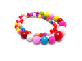 Colorful bead necklace Royalty Free Stock Photo