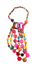 Colorful beaded necklace Royalty Free Stock Photo