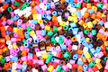 Colorful beads background Royalty Free Stock Photo