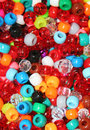Colorful beads closeup of many Stock Photography