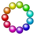 Colorful beads vector illustration of Royalty Free Stock Images