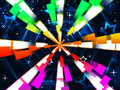 Colorful Beams Background Means Stars And Hexagonal