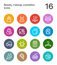 Colorful Beauty, cosmetics, makeup icons for web and mobile design pack 2